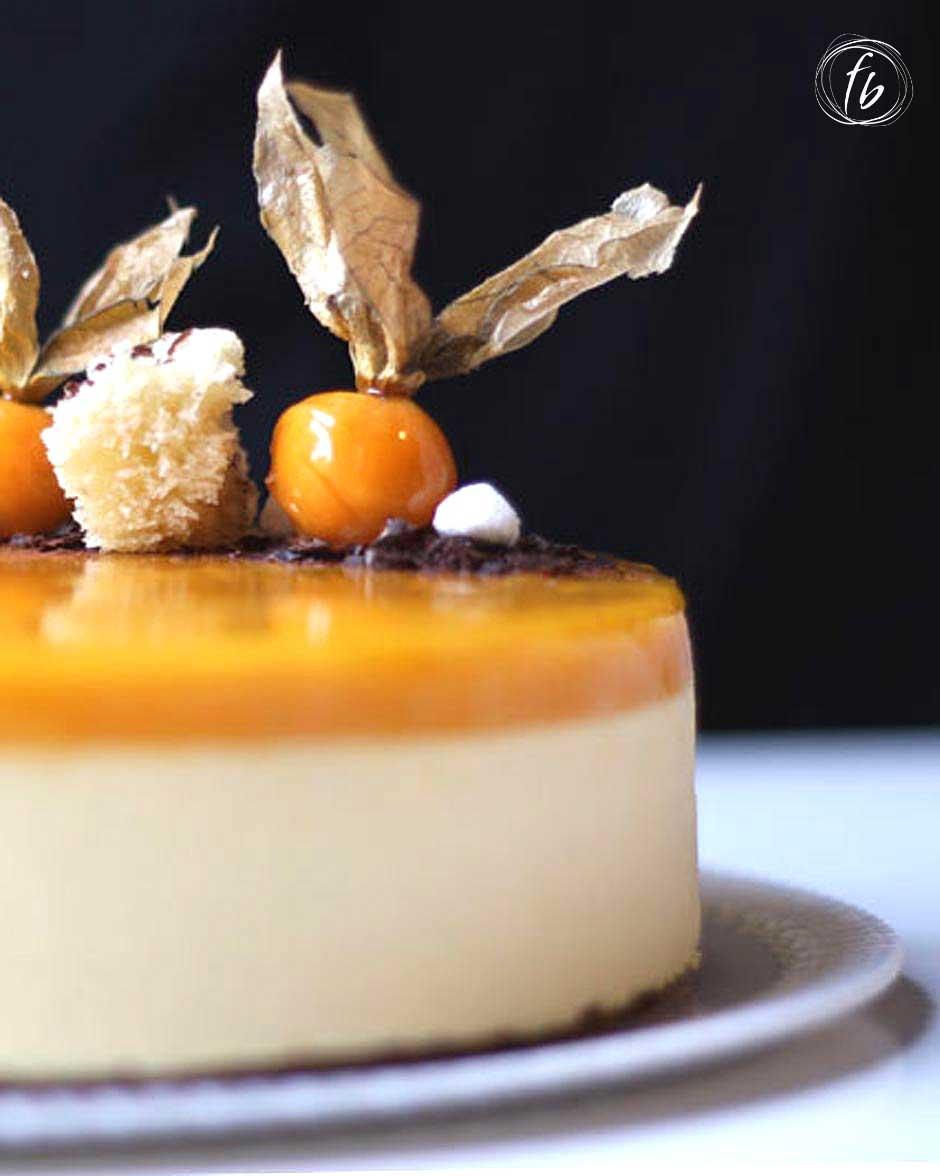 bavarese vaniglia e mandarino