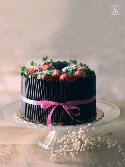 torta cioccolato fragole