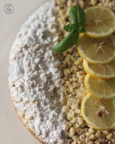 torta al limone e basilico